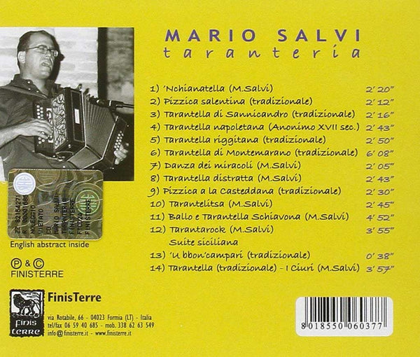 MARIO SALVI – Taranteria . CD