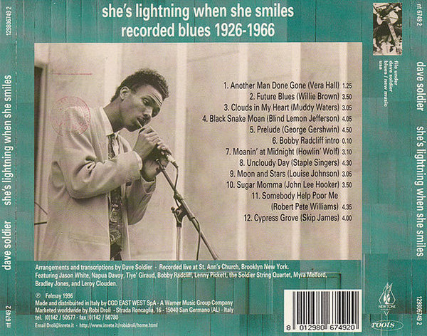 DAVE SOLDIER & SOLDIER STRING QUARTET – She's Lightning When She Smile . CD
