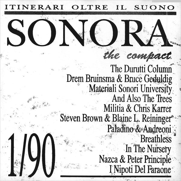 VARIOUS - Sonora 1/90 The Compact . CD sleeve