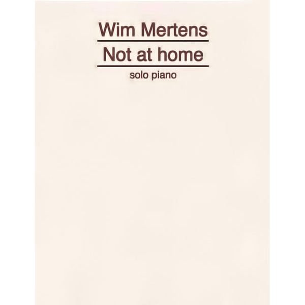WIM MERTENS - Not At Home