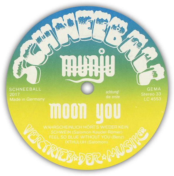 MUNJU - Moon You . LP . Label 1