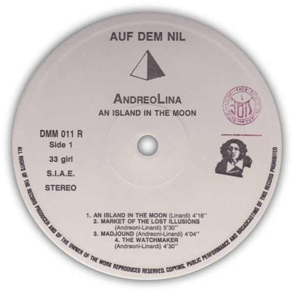 Andreolina – An Island In The Moon . LP . Label A