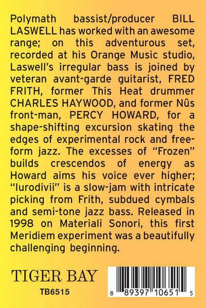 PERCY HOWARD. CHARLES HAYWARD. FRED FRITH. BILL LASWELL . Meridiem . LP