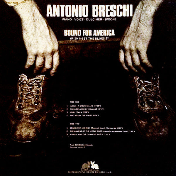 ANTONIO BRESCHI - Bound For America - Irish meet The Blues 2° - LP