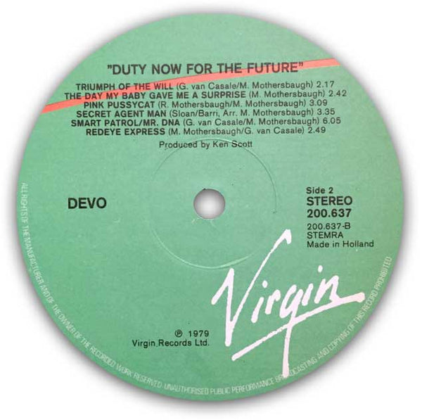 DEVO – Duty Now For The Future . LP