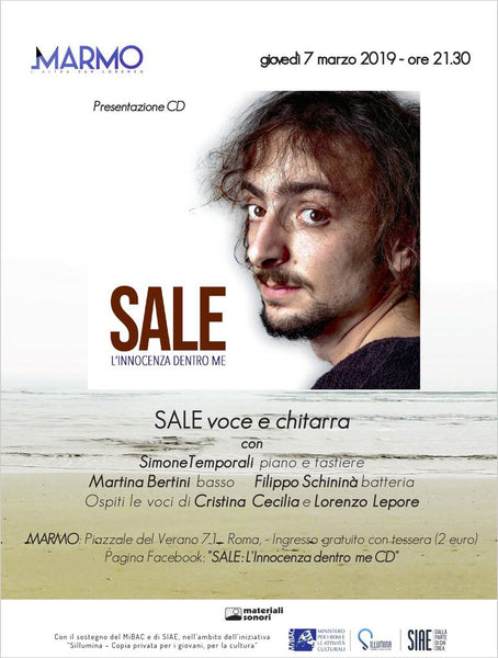 Presentazione di SALE . L'innocenza dentro me . CD