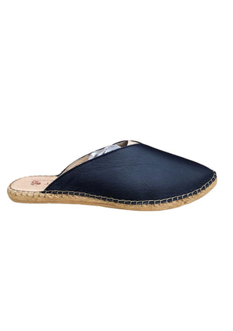 Macarena Slip-on Mules Navy Leather