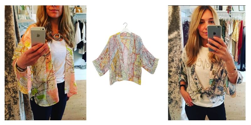 One Hundred Stars Kimono worn with jeans and a tshirt