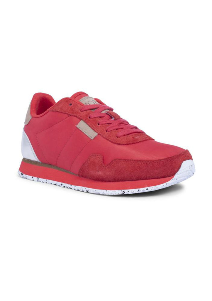 Red Woden Sneakers Trainers Nora