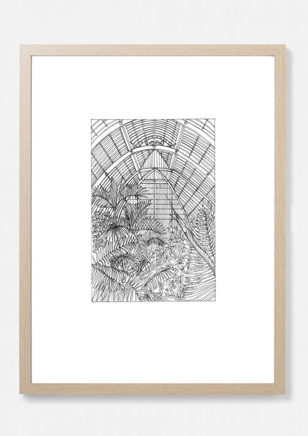 Palm House Kew Gardens Botanical Art Print