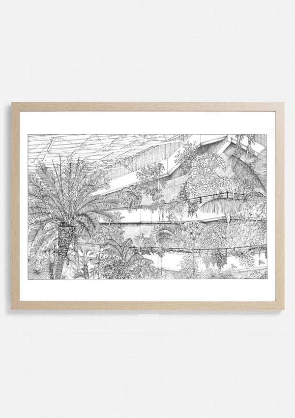 Barbican Conservatory Botanical Architectural Print