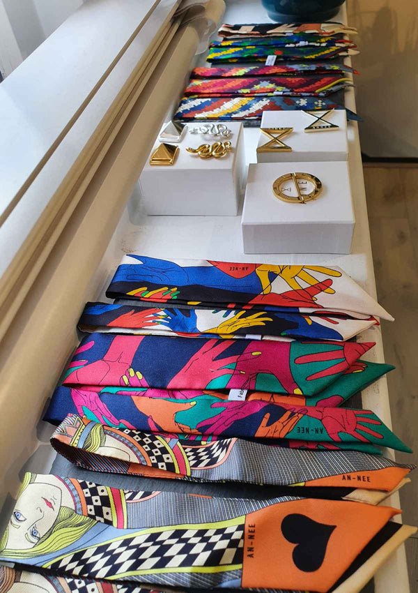 ANNEE Silk Wrist Scarf Bracelet Collection