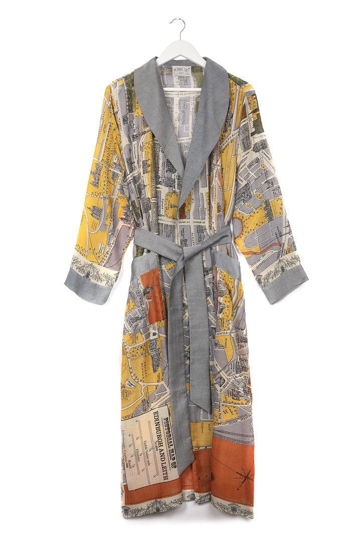One Hundred Stars Edinburgh & Leith Map Dressing Gown