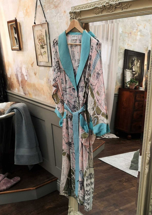 One Hundred Stars Paris Map Dressing Gown