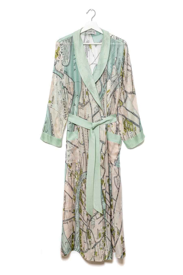 One Hundred Stars Venice Map Dressing Gown as seen on Nigella Lawson