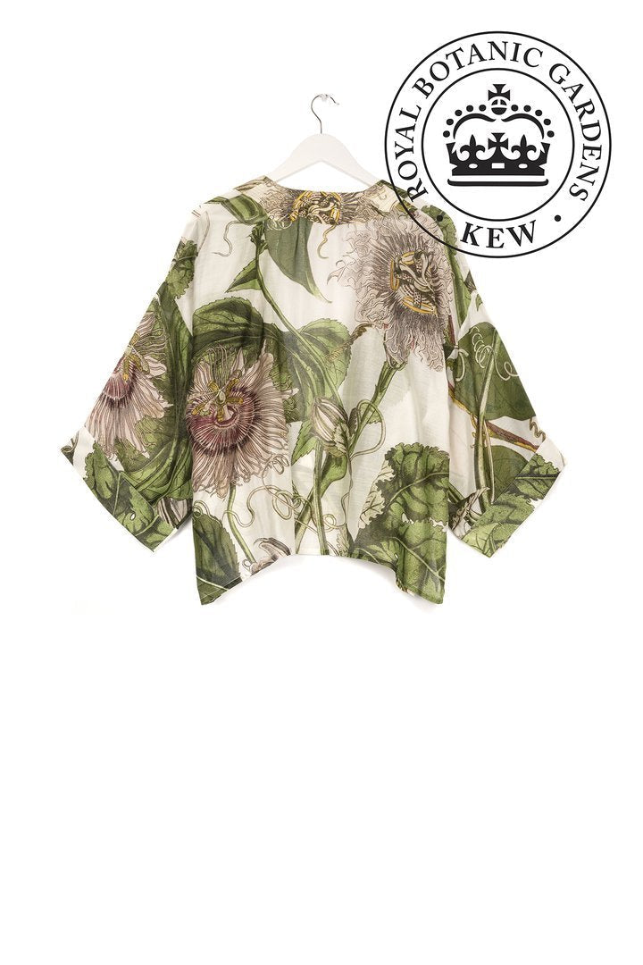One Hundred Stars & Kew Passion Flower Kimono Jacket