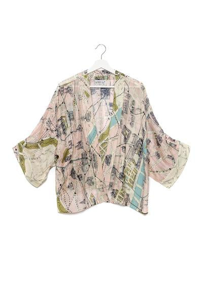 Paris Map Print Kimono One Hundred Stars Mamma Mia
