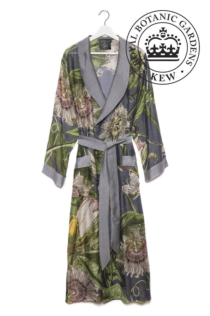 One Hundred Stars Kew Gardens Passion Flower Dressing Gown