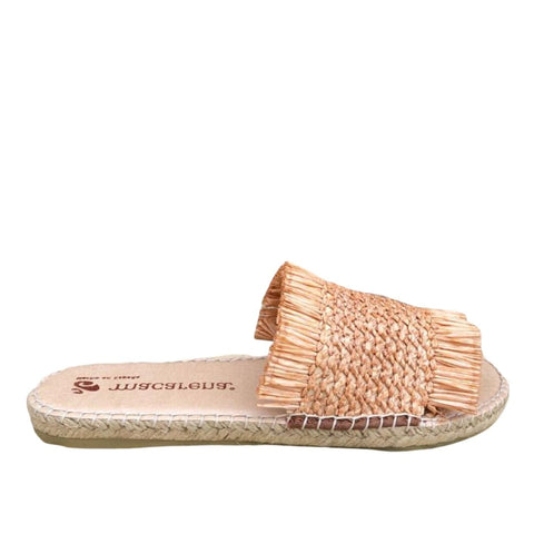 Natural / Nude Womens Slip on sliders / sandals