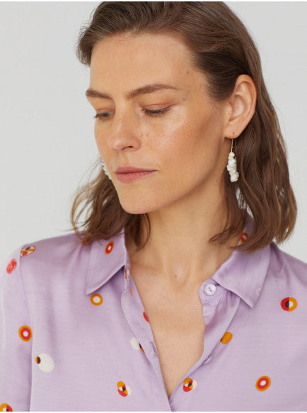 Nice Things Lilac Dot Shirt