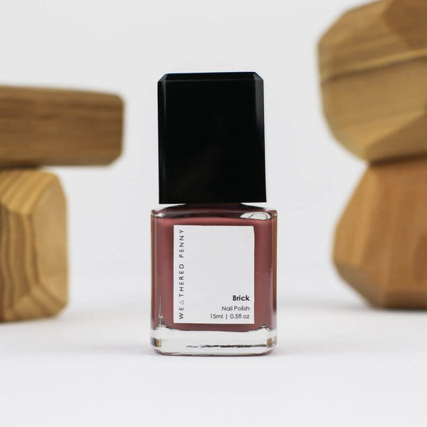 A Weathered Penny Brick Nail Varnish