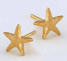 Alex Monroe Asymmetric Starfish Stud Earrings
