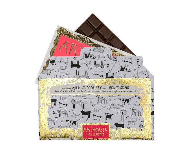 Arthouse Dogs Handmade Milk Chocolate with Honeycomb Pieces