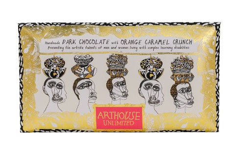 Arthouse Figureheads Handmade Dark Chocolate with Orange Caramel Crunch Chocolate