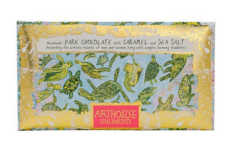 Arthouse Turtles Handmade Dark Chocolate with Caramel and Sea Salt