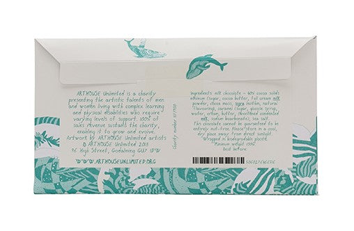 Arthouse Swim with Whales Forever Handmade Milk Chocolate with Caramel and Sea Salt