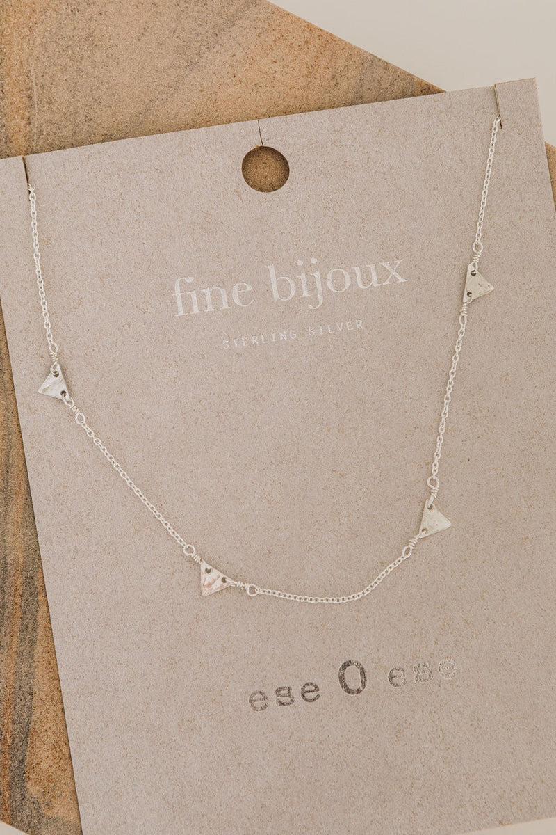 Triangles Necklace | Sterling Silver | Ese O Ese