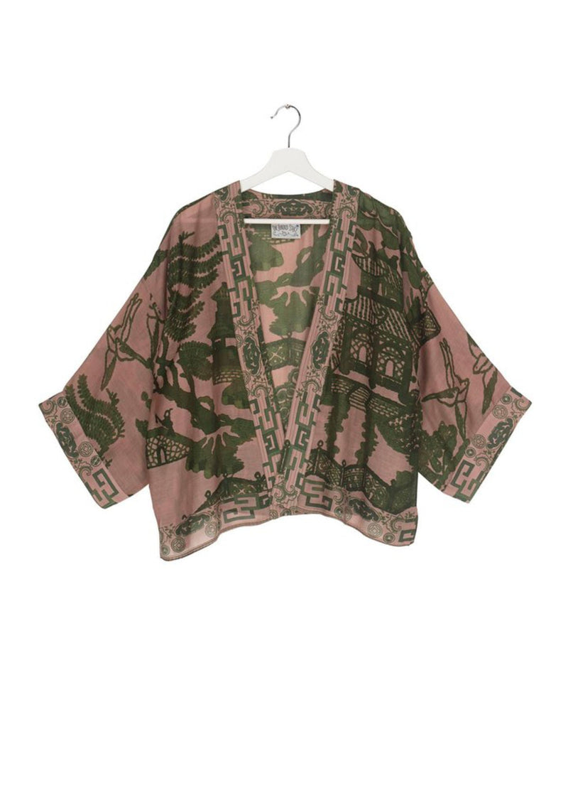 One Hundred Stars Giant Willow Green Kimono Jacket