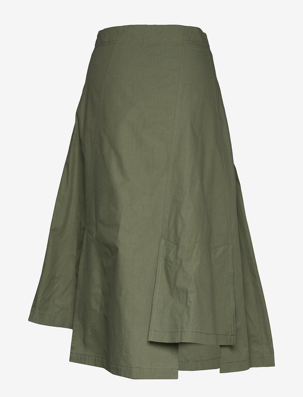 Khaki Nanita Midi Skirt | Just Female