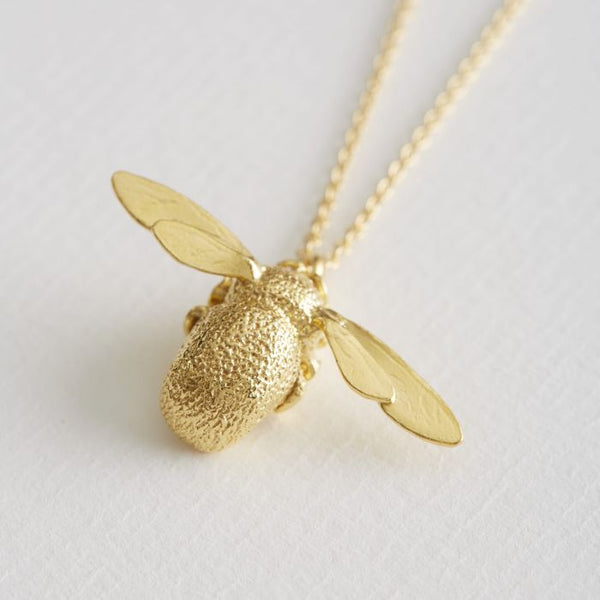 Large Bumblebee Necklace Alex Monroe Gold Plated
