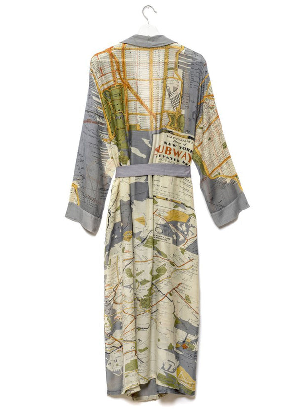 New York Map Dressing Gown One Hundred Stars
