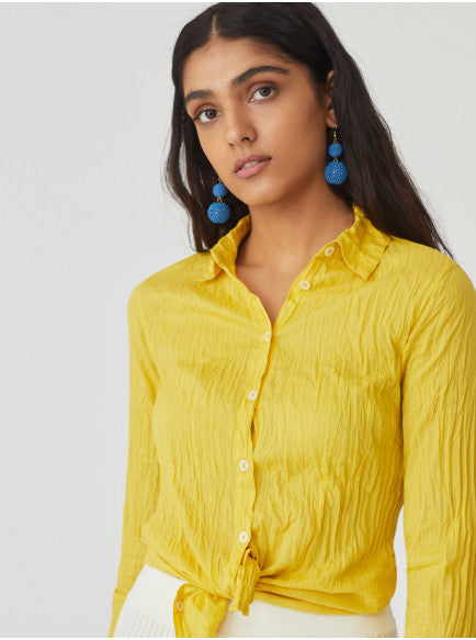 Yellow Non Iron Womens Shirt