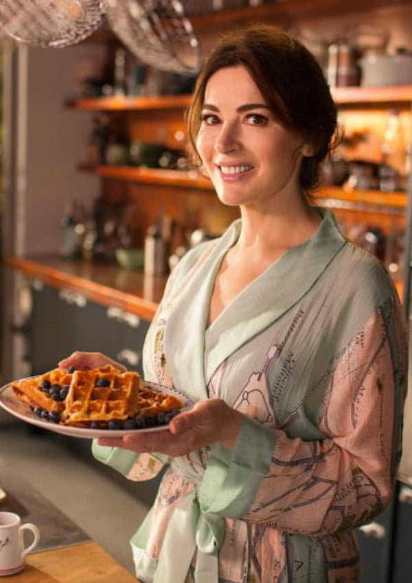 Venice Map Print Dressing Gown One Hundred Stars on Nigella Lawson