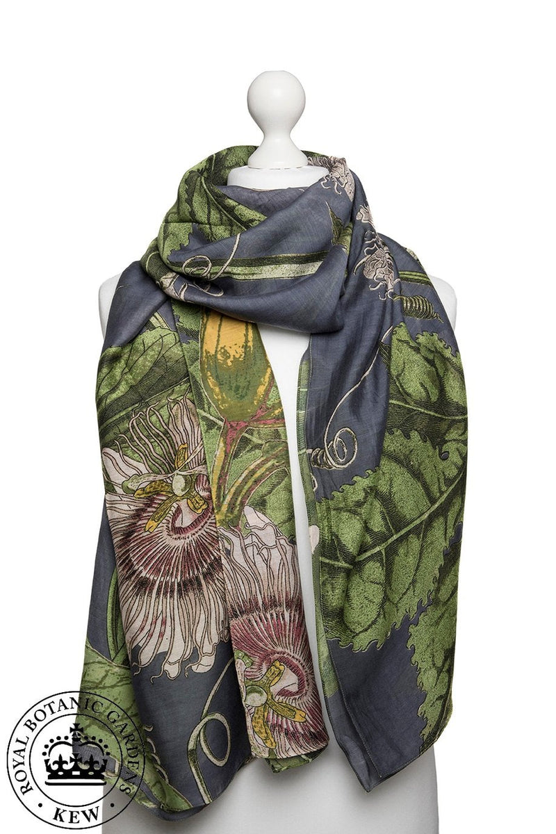 One Hundred Stars Kew Passion Flower Scarf