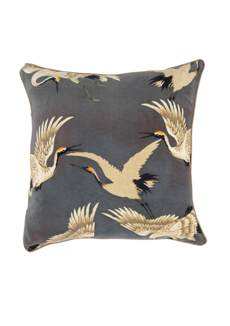 One Hundred Stars Velvet Stork Square Cushion Cover