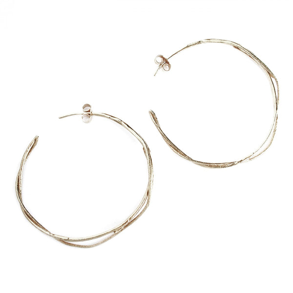 Alex Monroe Fine Twist Hoop Earrings