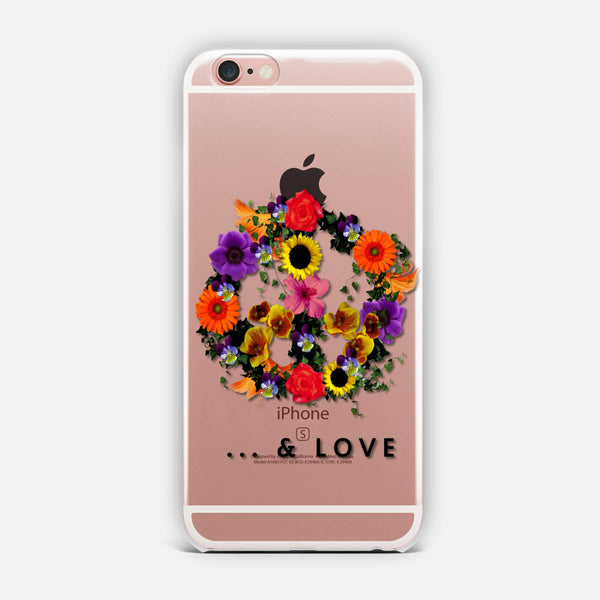 Peace & Love iPhone Case
