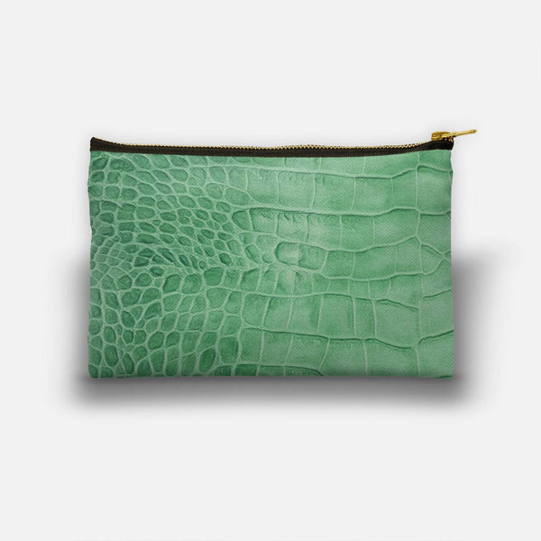 Croco leather effect (green) Studio Pouch