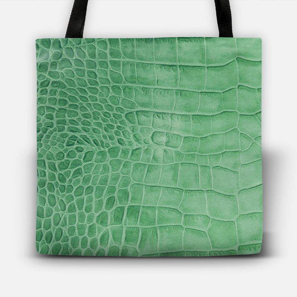 Croco leather effect (green) Tote Bag