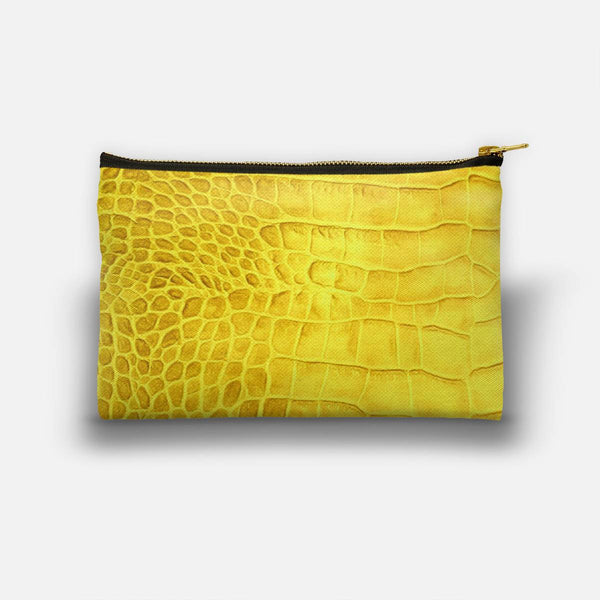 Croco leather effect (yellow) Studio Pouch
