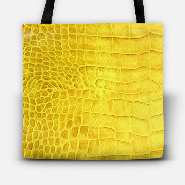 Croco leather effect (yellow) Tote Bag