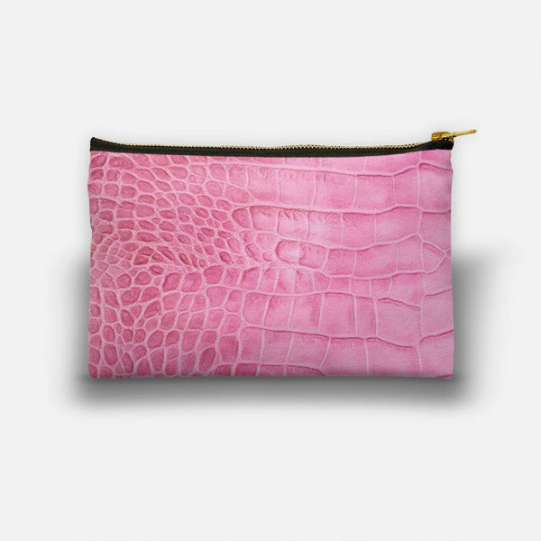 Croco leather effect (pink) Studio Pouch