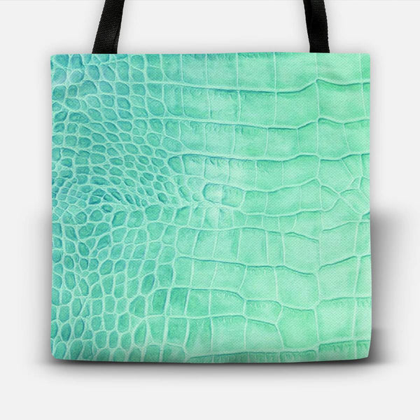 Croco leather effect (ment) Tote Bag