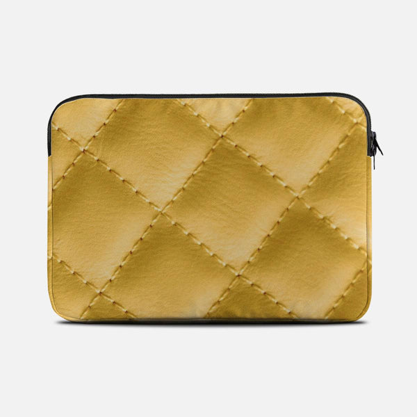 Yellow leather effect Laptop Sleeves