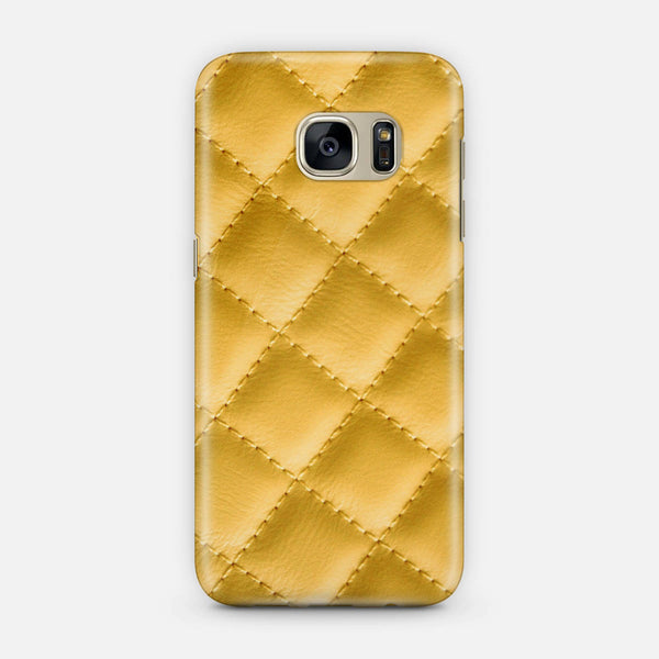 Yellow leather effect Samsung Galaxy Case