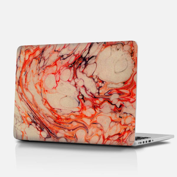Red marble Laptop Skins